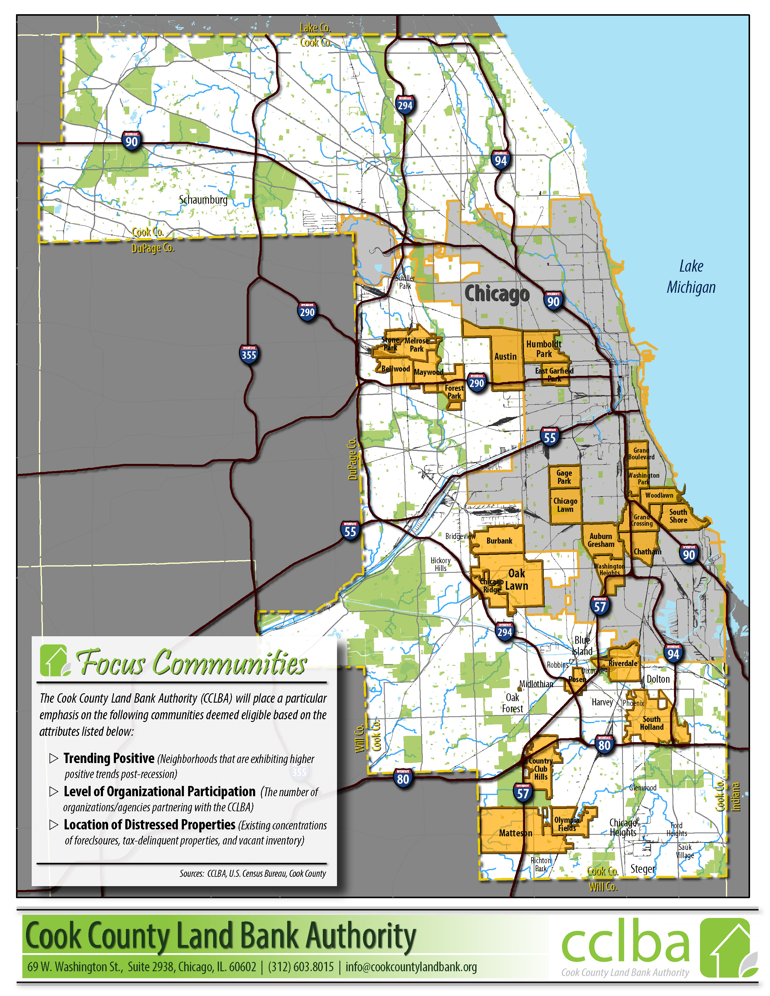 Cook County Land Bank Authority  Data  Analytics - Chicago map by county